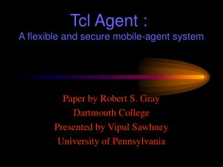 Tcl Agent :    A flexible and secure mobile-agent system
