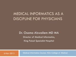Transforming Healthcare Quality and Management Through Informatics