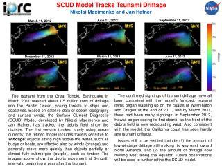SCUD Model Tracks Tsunami Driftage