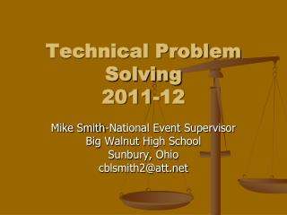 Technical Problem Solving 2011-12