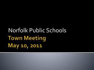 Town Meeting  May 10, 2011