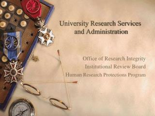 University Research Services  and Administration