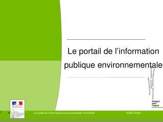 Le portail de l'information publique environnementale