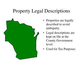 Property Legal Descriptions
