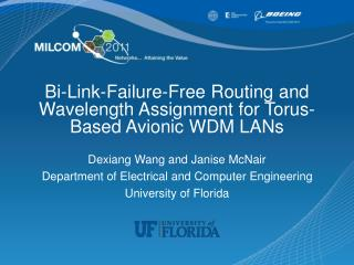 Bi-Link-Failure-Free  Routing and Wavelength Assignment for Torus-Based Avionic WDM LANs