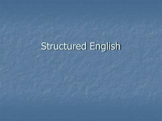 Structured English