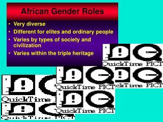 African Gender Roles