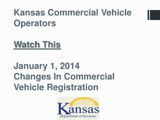 HB 2557 was passed by the 2012 Kansas Legislature and signed into law by  Governor  Brownback.