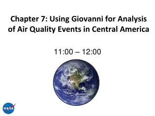 Chapter 7:  Using Giovanni for Analysis of Air Quality Events in Central America