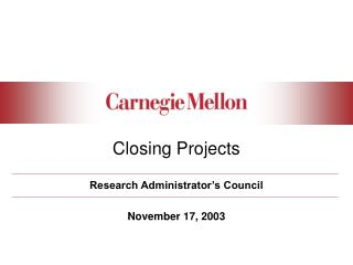 Closing Projects