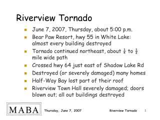 Riverview Tornado
