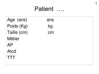 Patient  ….