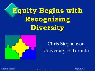 Equity Begins with Recognizing Diversity
