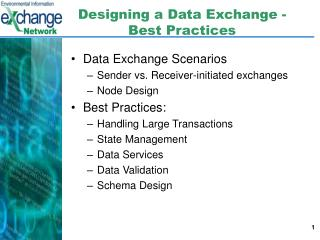 Designing a Data Exchange - Best Practices