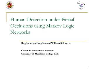 Human Detection under Partial Occlusions using Markov Logic Networks