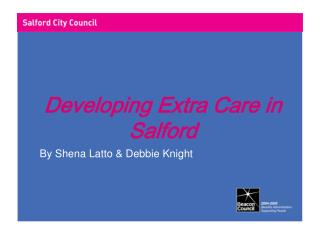 Developing Extra Care in Salford
