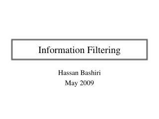 Information Filtering