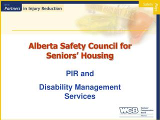 Alberta Safety Council for Seniors' Housing