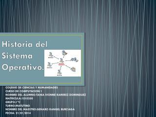 Historia del Sistema Operativo.