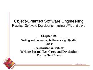Object-Oriented Software Engineering Practical Software Development using UML and Java