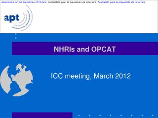 NHRIs and OPCAT