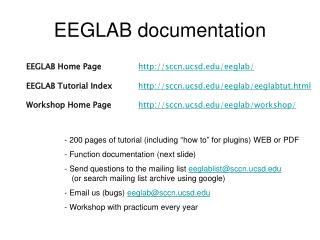 EEGLAB documentation