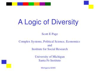 A Logic of Diversity