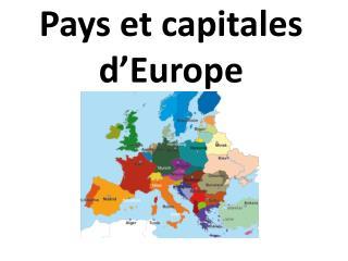 Pays et capitales d'Europe
