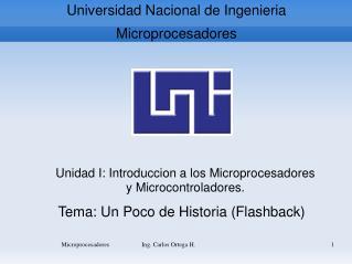 Universidad Nacional de  Ingenieria Microprocesadores