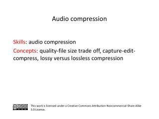 S kills : audio compression