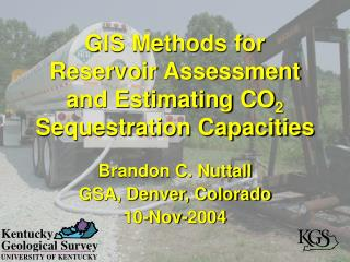 GIS Methods for Reservoir Assessment and Estimating CO 2  Sequestration Capacities