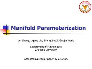Manifold Parameterization