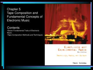 Chapter 5 Tape Composition and Fundamental Concepts of Electronic Music