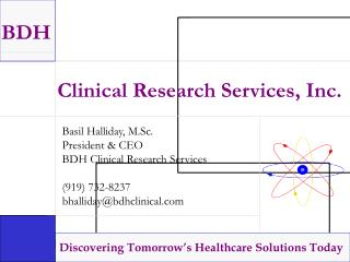 Clinical Research Services, Inc.