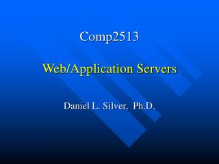 Comp2513 Web/Application Servers