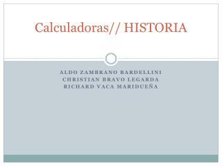 Calculadoras//HISTORIA