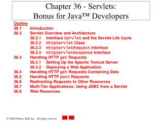 Chapter 36 -  Servlets:  Bonus for Java™ Developers