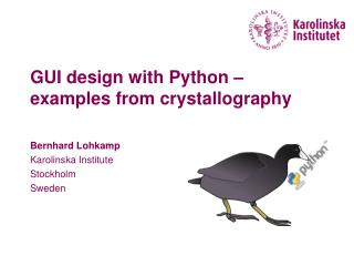GUI design with Python – examples from crystallography
