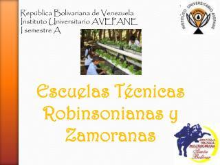 República Bolivariana de Venezuela         Instituto Universitario AVEPANE         I semestre A