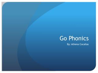 Go Phonics