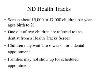 ND Health Tracks