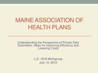 Maine Association of Health Plans