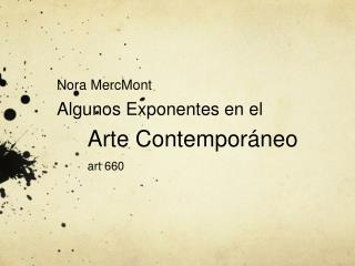 Arte Contemporáneo  art 660