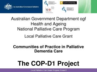 Australian Government Department  ogf  Health and Ageing National Palliative Care Program