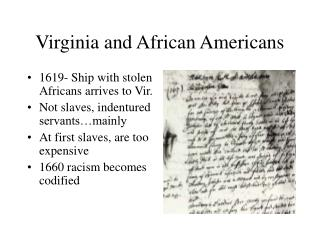 Virginia and African Americans