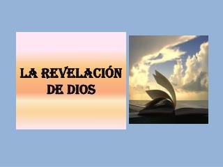 LA REVELACI�N DE DIOS