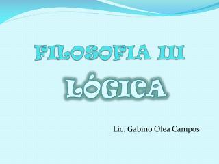 FILOSOFIA III