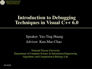 Introduction to Debugging Techniques in Visual C++ 6.0