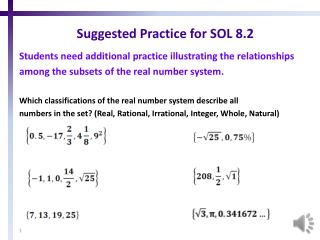 Suggested Practice for SOL 8.2
