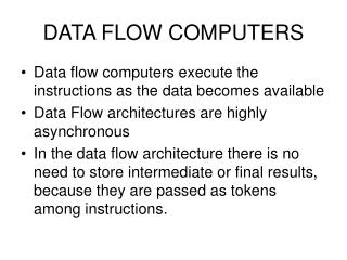 DATA FLOW COMPUTERS